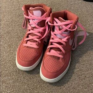 Pink nike high tops
